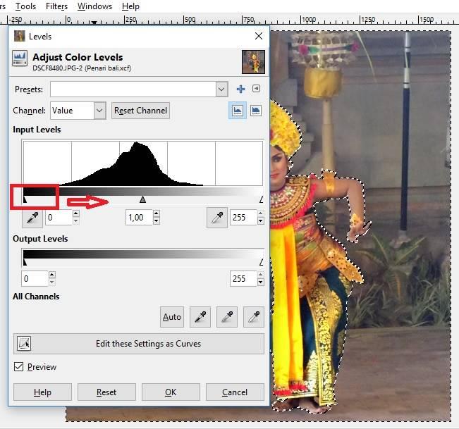 Cara Membuat Latar Belakang Hitam Dengan GIMP E